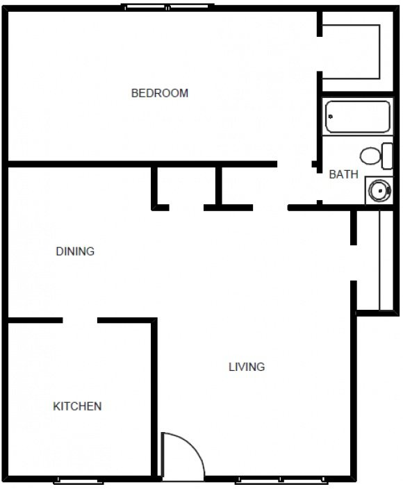 1 Bedroom 1 Bath Garden