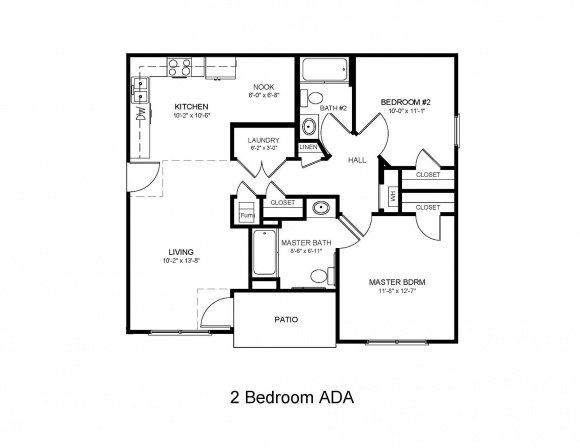 2 Bedroom 2 Bath ADA