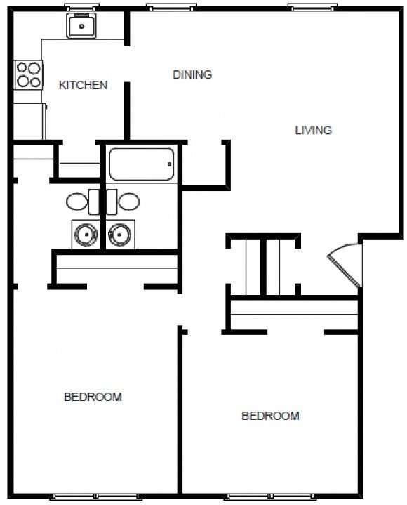 2 Bedroom, 1.5 Bath