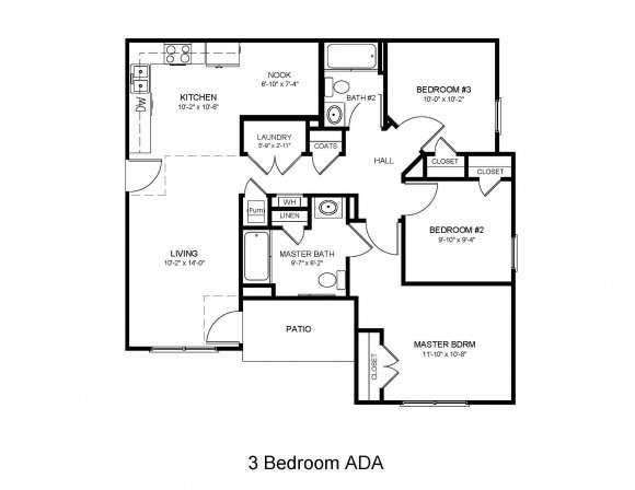 3 Bedroom 2 Bath ADA