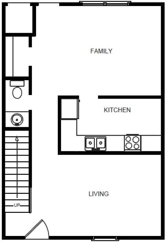 3 Bedrooms 1.5 Bath- 1st Floor