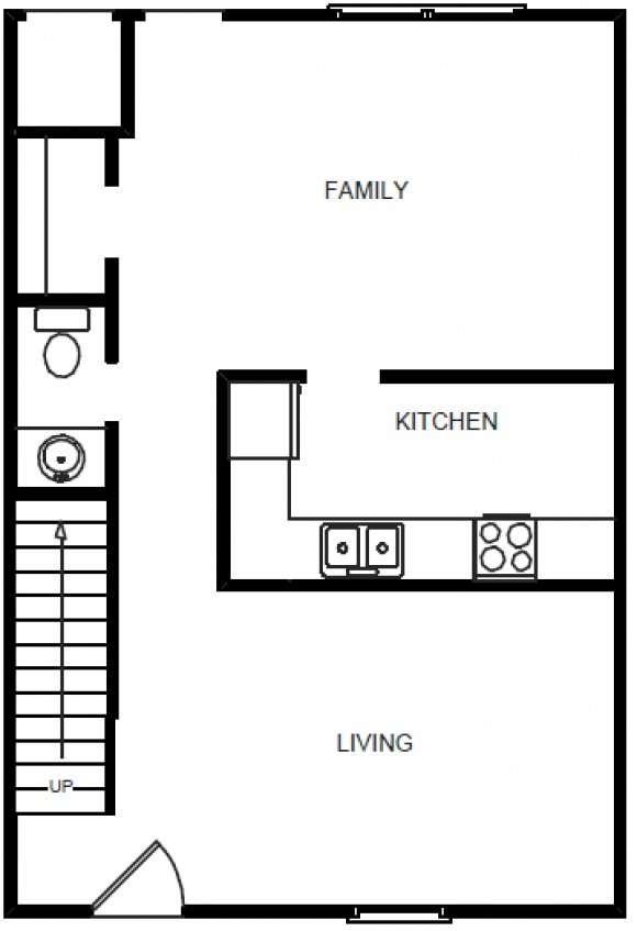 4 Bedrooms 1.5 Bath- 1st Floor