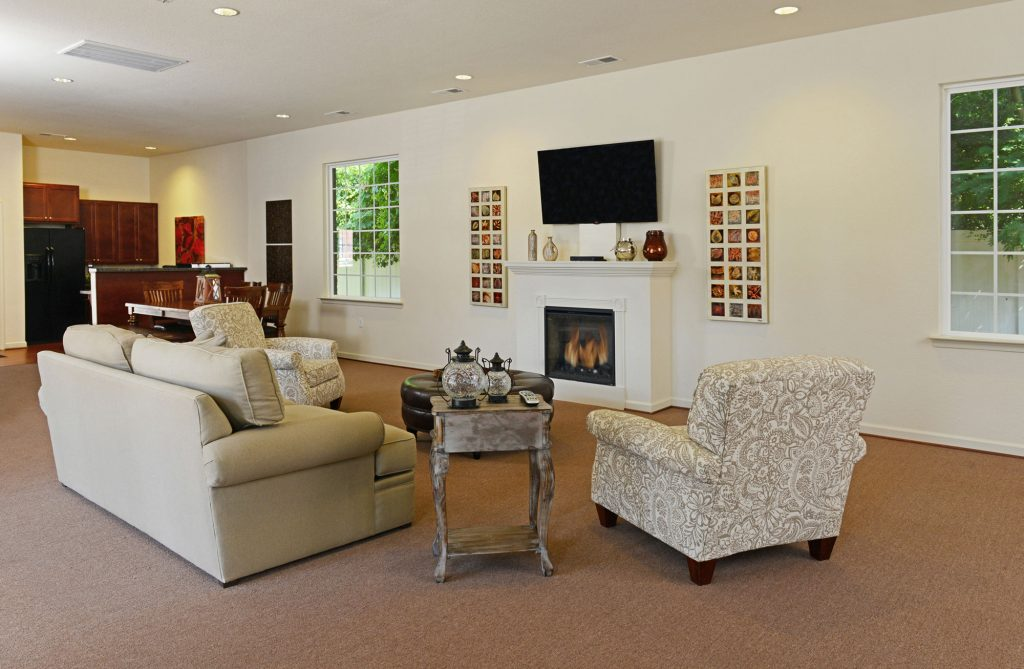 resident clubhouse lounge area