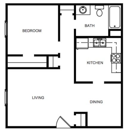 1 Bedroom, 1 Bath Garden