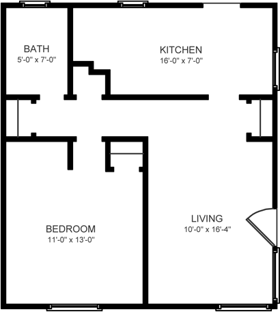 1 Bedroom, 1 Bath Duplex