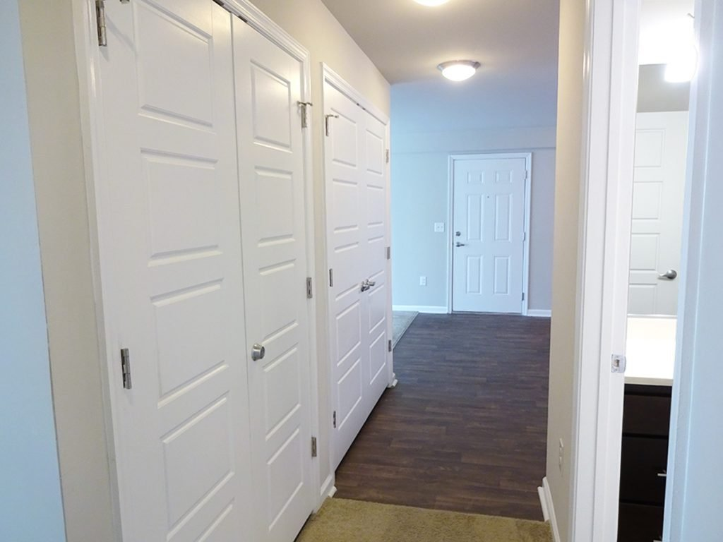 Hallway/foyer in October Station apartment building