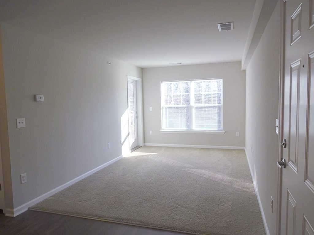 Living room in October Station apartment building