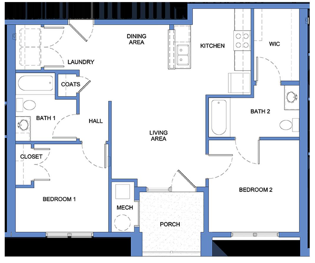 Calder - 2 Bedroom, 2 Bath