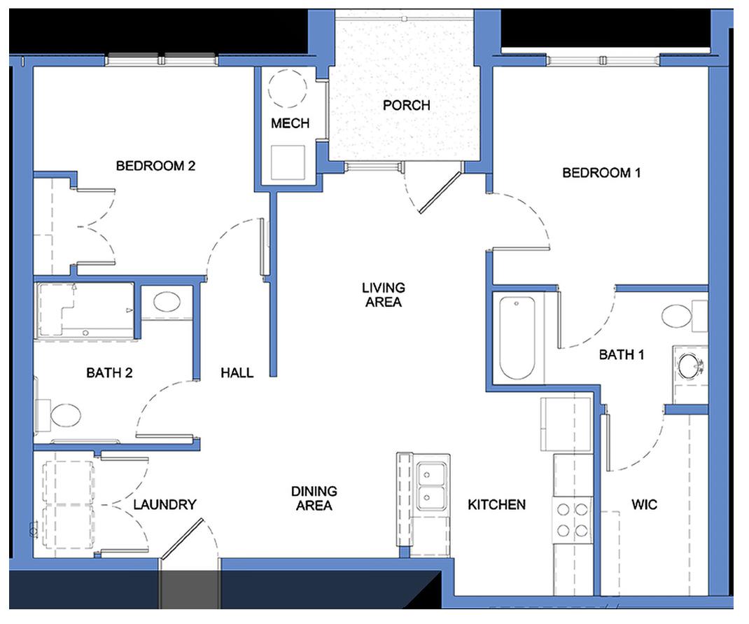 Hamilton - 2 Bedroom, 2 Bath