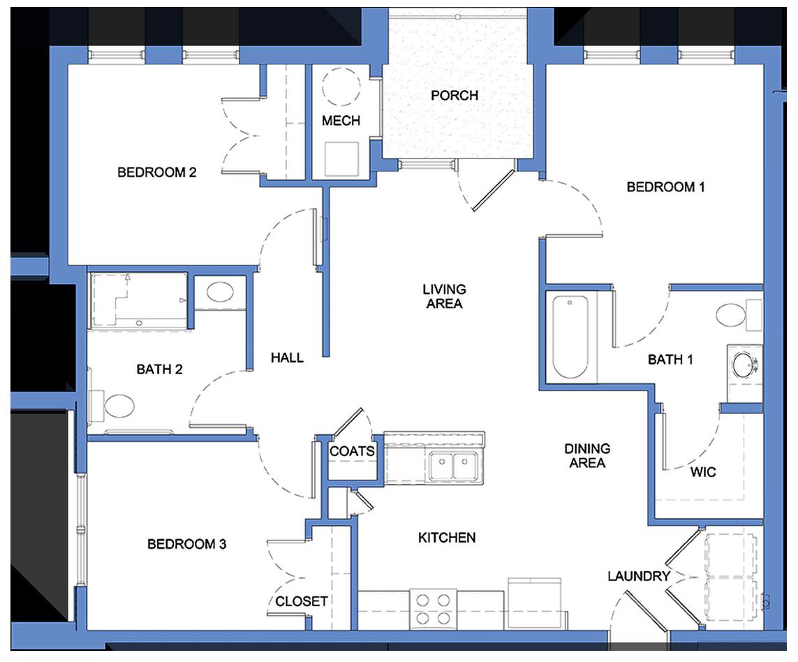 Manzoni - 3 Bedroom, 2 Bath