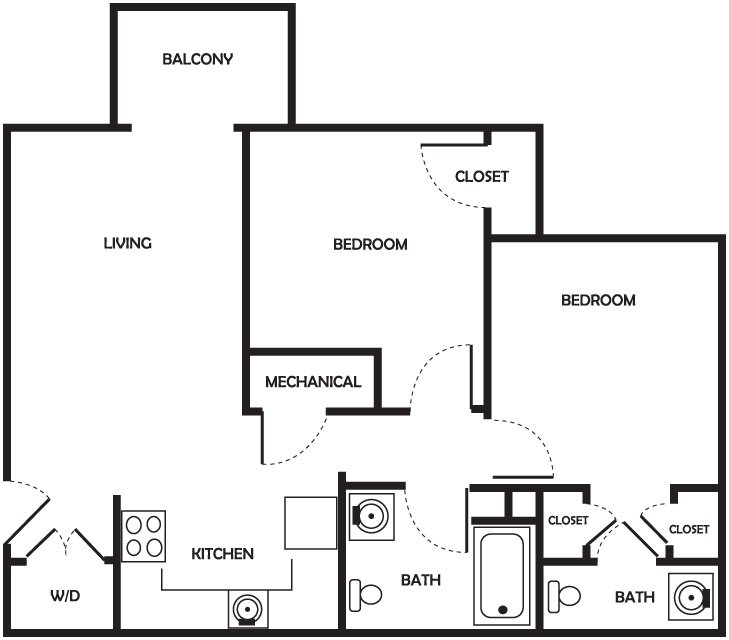 Henry - 2 Bedroom, 1.5 Bath