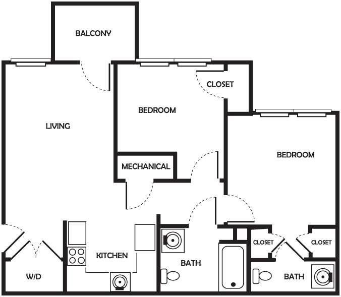 Elizabeth - 2 Bedroom, 1.5 Bath