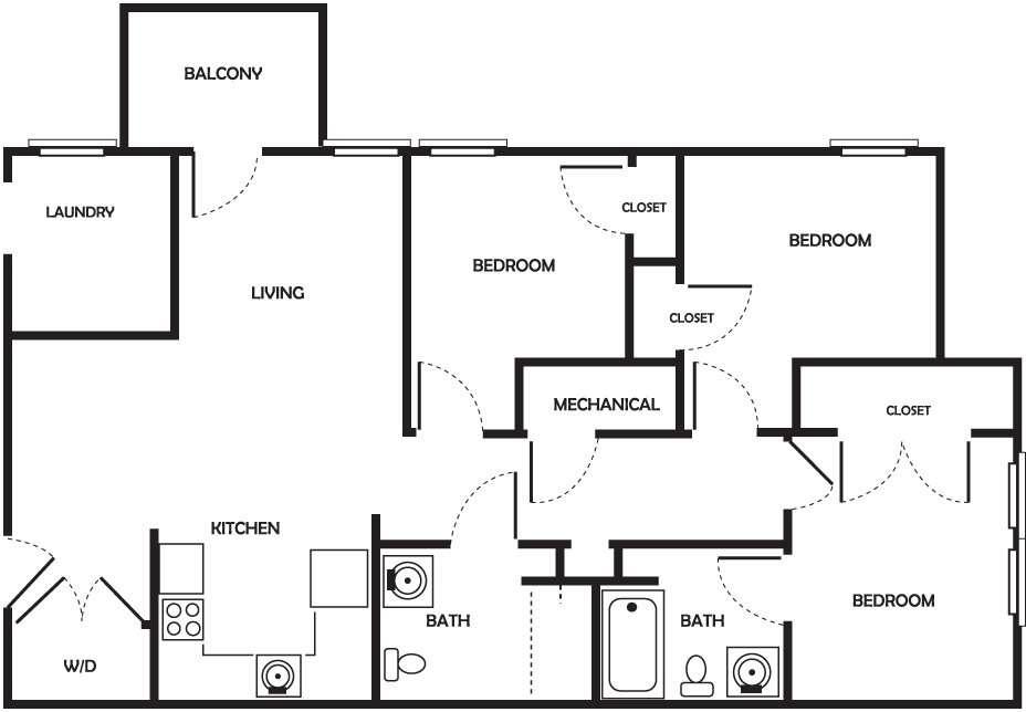 Archer - 3 Bedroom, 2 Bath